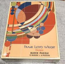 FRANK LLOYD WRIGHT Block Puzzle 6 Designs 12 Blocks Brand New Architecture