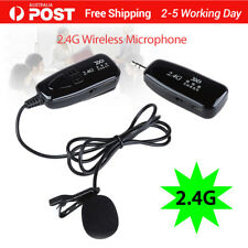 2.4G Lavalier Wireless Microphone Voice Amplifier Plug and Play Handsfree Mic AU