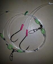 BEST FISHING RIGS 2 DROPPER 100LB LINE 1.8M ULTIMATE 2 HOOKS 6/0 BEAK 7/0 CIRCLE