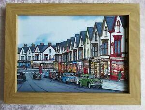 Vintage Uplands High Street Swansea  - Watercolour Painting - Tony Paultyn