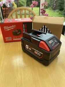 Milwaukee M28B5 5 Amp 28v Battery Pack Red Lithium-Ion Genuine New