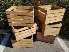 Wooden Crate Boxes Storage Apple Fruit Plain Wood Box Craft Crates Furniture