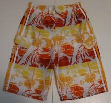 XXL (18) Youth Ocean Pacific Swim Board Shorts White Orange Floral Polyester