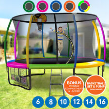 Trampoline Free Ladder Spring Mat Net Safety Pad Cover Round Enclosure 10ft 12ft