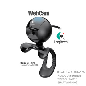WEBCAM LOGITECH CON MICROFONO 1.3 MP  30FPS SKYPE SMARTWORKING VIDEOCONFERENZE