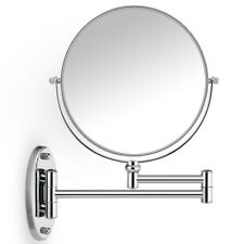 EXTENDING WALL MOUNTED BATHROOM COSMETIC SHAVING MIRROR SWIVEL MAGNIFYING MAKEUP