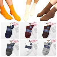 1 Pairs Men Women Winter Warm Ankle Socks Casual Sport Cotton Blend Socks Solid