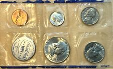 United States Silver Mint Set 1960 - 5 Coins Philadelphia Only - Perfect Coins!