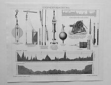 Tiefseeforschung, Tiefenlot u.a. Geräte - Valdivia Exped - 2 Stiche 1888-1900