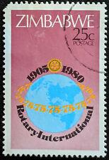 Stamp Zimbabwe 1980 25c Anniversary of Rotary International Used