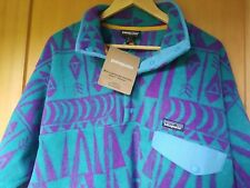 Nwt Patagonia Synchilla Pullover Snap T Lightweight Fleece Mens Large Tribal Geo