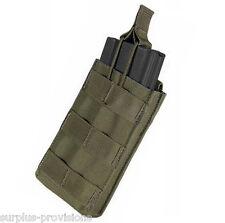 Condor MA18 Single 5.56 Open Top Mag pouch OD Green - Tactical clip Molle