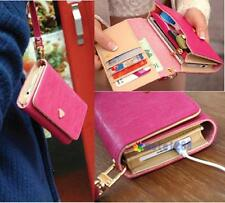 Wallet Purse Phone Case Rose for iPhone 4 4S 5 5S Samsung Galaxy S3 S4 Note2 MT