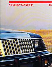 1985 Mercury Marquis Original 14-page Sales Brochure