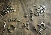 Metal Corners -Slotted Corners - 23 x17mm DIY decorative embellishments Qty 25