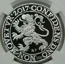 2017 Lion Dollar, Royal Dutch Mint, First Day of Issue, NGC PF70 Ultra Cameo