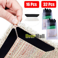 16/32pcs Anti Curling Rug Grips Carpet Gripper Home Non-Slip Pads for all Floor