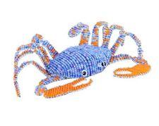 Blue Crab Shellfish Glass Beads Beaded Wire Hand Crafted Beadworx Extol Haiti