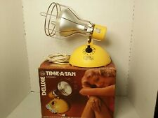Vintage GE Deluxe Time-A-Tan Sun Lamp Timer w/Bulb & Original Box Tested! Works!