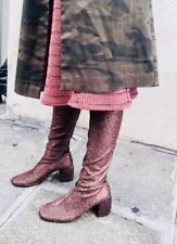 H&M Glittery thigh-high boots Soft stretchy over the knee 38 $199+ premium