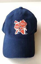 Olympics Cap London 2012 Blue Baseball Hat Tag Strapback NWT Adidas adjustable