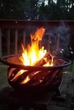Unique Fire Pit Firewave Patio Light + Cooking Grate Wood/Coal Bbq Grill Bowl