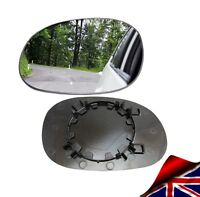 WING MIRROR GLASS PEUGEOT 206 1998-2010 CONVEX LEFT PASSENGER NEARSIDE CLIP ON