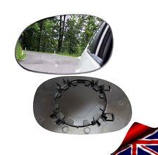 WING MIRROR GLASS PEUGEOT 206 1998-2010 CONVEX LEFT PASSENGER NEARSIDE CLIP ON
