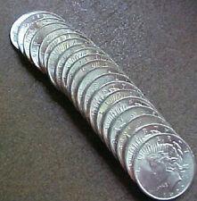 ORIGINAL ROLL 1922 PEACE SILVER DOLLARS ..CH/GEM BU