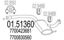 MTS silenciador del medio RENAULT LAGUNA 01.51360