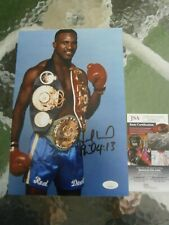 Evander Holyfield Signed 8 x 12 jsa Authenticated