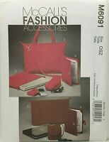 McCall's M6091 Tote, Laptop Case, Cord Cases, eBook Covers UNCUT Pattern OOP