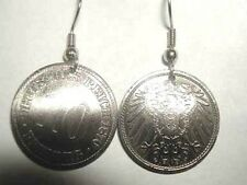Coin Jewelry-Antique German coin earrings