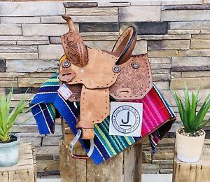 "10""- Doc Holiday Wildstar Saddle Co.- Youth Barrel Saddle, Ranch, Cowboy,"