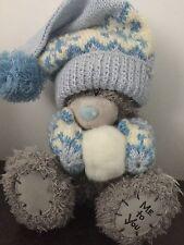 """8-9"""" HIGH WINTER ME TO YOU TATTY TEDDY BEAR - POM POM HAT, MITS & SNOWBALL"""