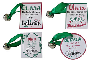 Santa's Magic Bell Personalised Father Christmas Eve Polar Express I BELIEVE