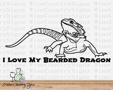 Love My Bearded Dragon Reptile Exotic Pet Decor Viv Vinyl Car/Wall Decal Sticker