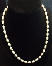 Sterling Silver Hand Made Cultured Freshwater Pearl And Crystal Necklace