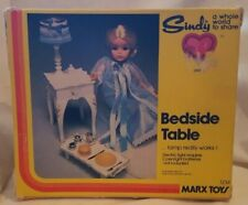Sindy Doll Furniture Bed Side Table - Plus Accessories *By Marx Toys