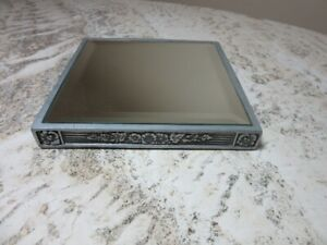Beveled mirror display stand, base
