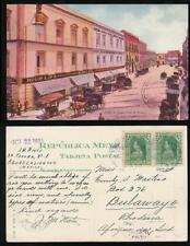 MEXICO to RHODESIA 1913 PPC GANTE STREET SONORA NEWS CO...BULAWAYO MACHINE PMK