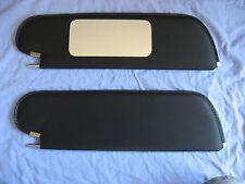 1970-72  skylark HT single pin sun visors with vanity  mirror black non perf