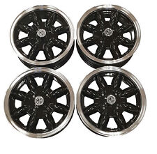 MG Midget/AH Sprite Black  Minilight Alloy Wheels