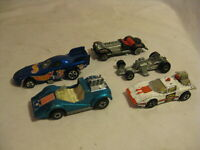 5 vintage  toy die cast toy car lot Hot Wheels Space Cop Lesney Hellraiser +