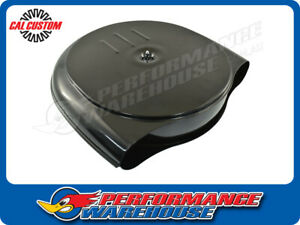 """RETRO CADILLAC / OLDSMOBILE STYLE AIR CLEANER ASSEMBLY, 5-1/8"""" NECK, BLACK"""