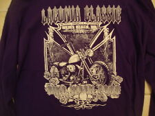 Laconia Classic Weirs Beach New Hampshire Purple Long Sleeve T Shirt L