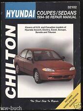 Hyundai Coupés & Limousinen (Accent, Sonata u.a.), 1994-1998, Repair Manual