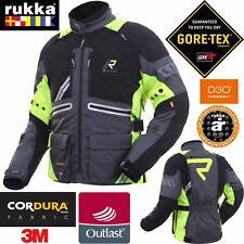 RUKKA Gore-Tex Motorradacke OFFLANE grau gelb Outlast Cordura D3O Protektoren 50