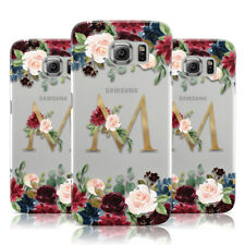 DYEFOR PERSONALISED CLEAR MONOGRAM & FLORAL PHONE CASE COVER FOR SAMSUNG GALAXY