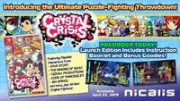 Crystal Crisis Launch Ed inc Free Puzzle Cube  (US IMPORT) GAME NEW